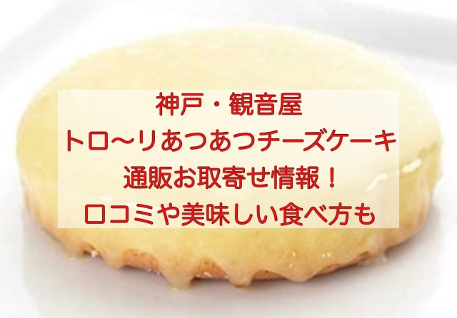 神戸観音屋チーズケーキの通販お取寄せ情報と口コミ