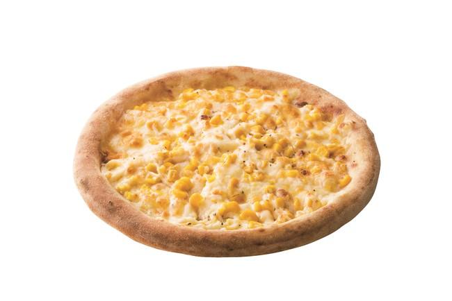 ミスドピザ 北海道コーンのクリームピザ